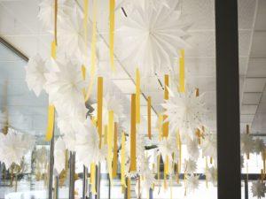 Einblick Adventinstallation der Bildschule Frauenfeld
