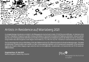 Ausschreibung AIR Mariaberg 2021